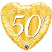 "Happy 50th Damask Foil Balloon (18"") 1pc"